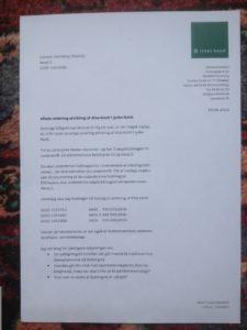 side 1 brev 16-06 2013 Birgit Bush Thuesen sender os til afvikling grundet jyske bank bedrager os med et falsk lån, og GUD ved hvad jyske bank ellers har udsat os for. det opdager vi i feb - marts 2016 det er jo rent svindel