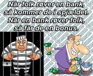 politiet nægter at efterforske sag om bedrageri selv om der er massive beviser mod jyske bank i sagen, det er politik den moderne røver i jakkesæt