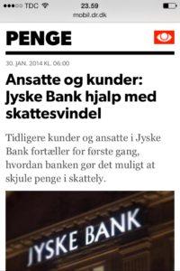 ansatte og kunder, Jyske bank hjalp med skattesvindel