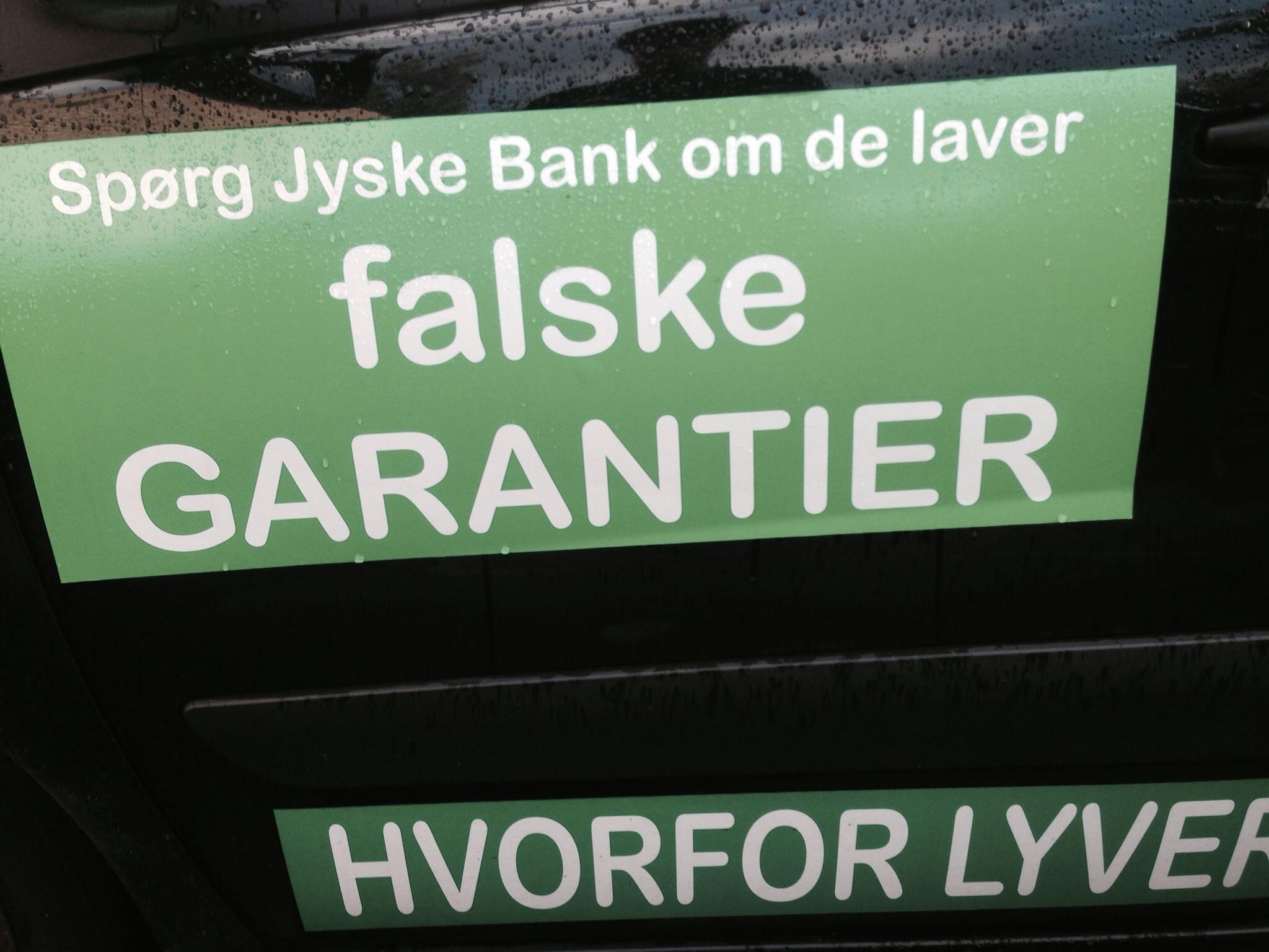 Nationalbanken statsgaranti låneramme huslån bolig lån superlån brf kredit GF ATP PFA JYSKEFINANS BILLÅN BYGGELÅN Vil ingen i jyske bank svare på nogle af de mange spørgsmål. Vi afventer rapporten der omhandler jyske Banks måde at drive deres bank på. Og lad os bare sige det som det er JYSKE BANK HAR LAVET MANGE FODFEJL OG NU VED JYSKE BANK IKKE HVILKET BEN DE SKAL STÅ PÅ, MIN ADVOKAT HAR SAGT JYSKE BANK VIL INTET INDRØMME ELLER UNDSKYLDE NOGET SOM HELST. MED DERFOR KAN DE VEL GODT SVARE KUNDE SOM BARE ØNDKER SVAR VI KAN GENNEMGÅ LISTEN MED JA NEJ SPØRGSMÅL, så er vi på vej Koncernledelse jyske bank Koncernbestyrelsen Sven Buhrkall Kurt Bligaard Pedersen Rina Asmussen Philip Baruch Jens A. Borup Keld Norup Christina Lykke Munk Haggai Kunisch Marianne Lillevang Koncerndirektionen Anders Dam Leif F. Larsen Niels Erik Jakobsen Per Skovhus Peter Schleidt Sagen historien om Nykredit og jyskebank handler om: Bedrageri Svindel Løgne Tyveri Underslæb Mandatsvig Svig Dokumentfalsk, At dække over forbrydelser At skjule forbrydelser At nægte kunder svar Om at lyve over for retten udelukket for at kunne fortsætte bedrageriske forhold. Se dagbogen på www.banknyt.dk Vi søge åbenhed og dialog med jyske bank, har kunde hjemtaget et lån på 4.328.000 kr. i Nykredit eller ej, fundamentet i jyske bank beskriver banken som åben. Men her lyver jyske bank, Når jyske bank nægter at svare kunder, nægter dem aktindsigt , og forbyder kunder at kontakte banken i sag om bedrageri Så er der noget galt et sted i banken Kunden her bliver ved og ved og ved Efter en indlæggelse grundet en hjerneblødning, blev der sat nye batterier i, de kan genoplades. DURACELL BATTERIER ELLER PITBULL VÆLG SELV. Har kunde bagefter lavet en rente bytte. Rente Swap, eller er der tale om Svig eller måske dokument falsk, til et falsk lån. En snak med jyske bank kunne kaste lys over sagen, har kunden ret eller har jyske bank. Jyske Banks enste kommentar til kunden er Jyske Bank Morten Ulrik Gade Anders Christian Dam Lund