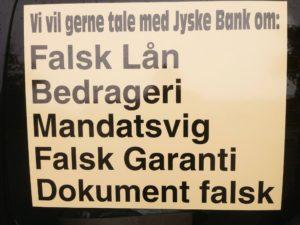Vil ingen i jyske bank svare på nogle af de mange spørgsmål. Vi afventer rapporten der omhandler jyske Banks måde at drive deres bank på. Og lad os bare sige det som det er JYSKE BANK HAR LAVET MANGE FODFEJL OG NU VED JYSKE BANK IKKE HVILKET BEN DE SKAL STÅ PÅ, MIN ADVOKAT HAR SAGT JYSKE BANK VIL INTET INDRØMME ELLER UNDSKYLDE NOGET SOM HELST. MED DERFOR KAN DE VEL GODT SVARE KUNDE SOM BARE ØNDKER SVAR VI KAN GENNEMGÅ LISTEN MED JA NEJ SPØRGSMÅL, så er vi på vej Koncernledelse jyske bank Koncernbestyrelsen Sven Buhrkall Kurt Bligaard Pedersen Rina Asmussen Philip Baruch Jens A. Borup Keld Norup Christina Lykke Munk Haggai Kunisch Marianne Lillevang Koncerndirektionen Anders Dam Leif F. Larsen Niels Erik Jakobsen Per Skovhus Peter Schleidt Sagen historien om Nykredit og jyskebank handler om: Bedrageri Svindel Løgne Tyveri Underslæb Mandatsvig Svig Dokumentfalsk, At dække over forbrydelser At skjule forbrydelser At nægte kunder svar Om at lyve over for retten udelukket for at kunne fortsætte bedrageriske forhold. Se dagbogen på www.banknyt.dk Vi søge åbenhed og dialog med jyske bank, har kunde hjemtaget et lån på 4.328.000 kr. i Nykredit eller ej, fundamentet i jyske bank beskriver banken som åben. Men her lyver jyske bank, Når jyske bank nægter at svare kunder, nægter dem aktindsigt , og forbyder kunder at kontakte banken i sag om bedrageri Så er der noget galt et sted i banken Kunden her bliver ved og ved og ved Efter en indlæggelse grundet en hjerneblødning, blev der sat nye batterier i, de kan genoplades. DURACELL BATTERIER ELLER PITBULL VÆLG SELV. Har kunde bagefter lavet en rente bytte. Rente Swap, eller er der tale om Svig eller måske dokument falsk, til et falsk lån. En snak med jyske bank kunne kaste lys over sagen, har kunden ret eller har jyske bank. Jyske Banks enste kommentar til kunden er Jyske Bank Morten Ulrik Gade Anders Christian Dam Lund Elmer Sandager Philip Baurch 31-05-2016 Frabeder sig henvendelser i sagen. Altså kunder i jyske Bank, der spørger