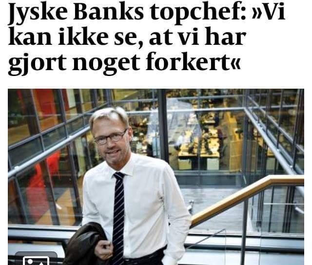 Anders Dam kan ikke se jyske bank, gør noget forkert