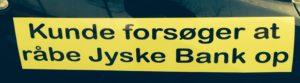 Desperat Snyt kunde forsøger at få jyske bank i tale Dette står der mere om på banknyt.dk Og jo jyske bank har fået link og følge med. Men vil ikke svare