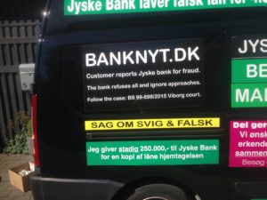 IMG_3091 / JYSKE BANKs SVINDEL / FRAUD - CALL / OPRÅB :-) Can the bank director CEO Anders Dam not understand We only want to talk with the bank, JYSKE BANK And find a solution, so we can get our life back We are talking about The last 10 years, the bank provisionally has deceived us. The Danish bank took 10 years from us. :-) Please talk to us #AndersChristianDam Rather than continue deceive us With a false interest rate swap, for a loan that has not never existed We write, and write, and write, while the bank continues the very deliberate fraud which the entire Group Board is aware of. :-) :-) A case that is so inflamed, that not even the Danish press does dare comment on it. do you think that there is something about what we are writing about. Would you ask the bank management Jyske Bank Link to the bank further down Why they will not answer their customer And deliver a copy of the loan, 4.328.000 DKK as the bank claiming the customer has borrowed i Nykredit As the Danish Bank changes interest rates, for the last 10 years, Actually since January 1, 2009 - Now the customer discovered and informed the Jyske Bank Jyske 3-bold Bank May 2016 that there was no loan taken. We are talking about fraud for millions, against just one customer :-) :-) Where do you come into contact with a fraudster who just does not want to stop deceiving you Have tried for over 2 years. DO YOU HAVE A SUGGESTION :-) from www.banknyt.dk Startede i jyske bank Helsingør I.L Tvedes Vej 7. 3000 Helsingør Dagblad Godt hjulpet af jyske bank medlemmer eller ansatte på Vesterbro, Vesterbrogade 9. Men godt assisteret af jyske bank hoved kontor i Silkeborg Vestergade Hvor koncern ledelsen / bestyrelsen ved Anders Christian Dam nu hjælper til med at dette svindel fortsætter Jyske Banks advokater som lyver for retten Tilbød 2-11-2016 forligs møde Men med den agenda at ville lave en rente bytte på et andet lån, for at sløre svindlen. ------------ Journalist Press just ask Danish Bank Jyske bank why the ba