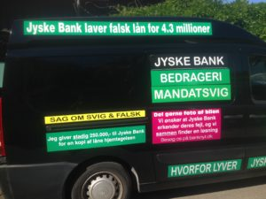 IMG_3099 / JYSKE BANKs SVINDEL / FRAUD - CALL / OPRÅB :-) Can the bank director CEO Anders Dam not understand We only want to talk with the bank, JYSKE BANK And find a solution, so we can get our life back We are talking about The last 10 years, the bank provisionally has deceived us. The Danish bank took 10 years from us. :-) Please talk to us #AndersChristianDam Rather than continue deceive us With a false interest rate swap, for a loan that has not never existed We write, and write, and write, while the bank continues the very deliberate fraud which the entire Group Board is aware of. :-) :-) A case that is so inflamed, that not even the Danish press does dare comment on it. do you think that there is something about what we are writing about. Would you ask the bank management Jyske Bank Link to the bank further down Why they will not answer their customer And deliver a copy of the loan, 4.328.000 DKK as the bank claiming the customer has borrowed i Nykredit As the Danish Bank changes interest rates, for the last 10 years, Actually since January 1, 2009 - Now the customer discovered and informed the Jyske Bank Jyske 3-bold Bank May 2016 that there was no loan taken. We are talking about fraud for millions, against just one customer :-) :-) Where do you come into contact with a fraudster who just does not want to stop deceiving you Have tried for over 2 years. DO YOU HAVE A SUGGESTION :-) from www.banknyt.dk Startede i jyske bank Helsingør I.L Tvedes Vej 7. 3000 Helsingør Dagblad Godt hjulpet af jyske bank medlemmer eller ansatte på Vesterbro, Vesterbrogade 9. Men godt assisteret af jyske bank hoved kontor i Silkeborg Vestergade Hvor koncern ledelsen / bestyrelsen ved Anders Christian Dam nu hjælper til med at dette svindel fortsætter Jyske Banks advokater som lyver for retten Tilbød 2-11-2016 forligs møde Men med den agenda at ville lave en rente bytte på et andet lån, for at sløre svindlen. ------------ Journalist Press just ask Danish Bank Jyske bank why the ba