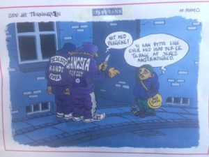 Banditterne i jyske bank syntes selv det er sejt at snyde og bedrage syge og svage JOKS er morsomme og den sorte humor har hjulpet os da jyske bank lavede snyd som en anden svindelbank fidusbanken finansbanken havde ry for, i morsomhed