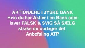 Aktie anbefalinger på jyske bank aktien sælg inden der afsiges dom i svindelsagen mod lille bankkunde i jyske bank