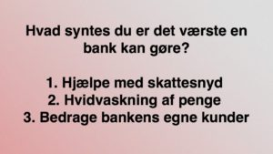 Jyske bank Ka det hele HVIDVASK HJÆLP MED SKATTESNYD BEDRAGERI HVEN KAN ANDERS DAM Ka da styrer uden om at svare den kunde han er med til at lade jyske Bank bedrage