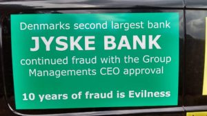 Spørg koncern bestyrelsen hvorfor De ikke vil tale med kunde Og hvorfor de bliver ved med at lade kunde i jyske bank bedrage