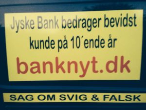 Jyske Bank laver svindel mod syg bankkunde Og bedrager kunden bevidst på 10'ende år