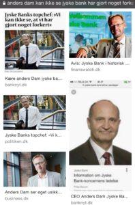 Hvad syntes ledelsen i jyske bank om deres bestyrelses ansvar i bedrageri sag mod kunde