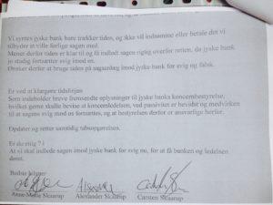 30-08-2018 Skal vi snart have dom i sagen mod jyske bank, for svig / bedrageri