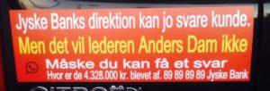 Anders Dam vil helst fortsætte bedrageri og nægter at tale med sur kunde, Den jyske leder Anders-Dam bestemmer med ledelsen, at svindel banken jyske bank siden maj 2016 skulle fortsætte med at bedrage bankens kunder og nægte dialog En #Jysk #gangster bank tvinger kunde til at betale #renter af et #lån der ikke findes Selv om jyske bank har løjet for kunden om at lånet var optaget og løjet at det var omlagt Mener kunde at været udsat for groft SVIG i jyske bank Kunden retter derfor mange henvendelser I perioden april 2016 til Jyske Banks advokater, bestyrelse, DIRIKTION samt Skriver DIRÆKTE til Anders Christian Dam ANDERS DAM NÆGTER SELV AT SVARE PÅ OPLYSNINGER OM SVINDEL Derfor fortsætter kunder stadig disse henvendelser, og nu offenlige opråb, for at jyske bank skal stoppe svindlen / bedrageriet CEO ANDERS DAM svare første gang 20-09-2018 at han ikke vil svare, de mange henvendelser, der er sendt til DIRIKTIONEN - Kunde ønsker bare at få banken til at stoppe bedrageri, og indrømme at jyske bank siden 30-12-2008 har udsat kunde for bedrageri frem til nu oktober 2018 :-( Eller at bevise jyske bank ikke er en bedragerisk svindel bank som kunden i retten vil forklare Samtidens med henvisning til de mange beviser imod jyske bank for bedrageri i sagsmaterialet :-) Kunderne siger om jyske bank koncernen Og oplyser hvad CEO Anders Dam selv har lovet, som her april 2016. Anders Dam lover pressen 5. April 2016 i forbindelse med Jyske Banks anbefaling og hjælp til skattesnyd, At jyske bank fremover ville drive en hæderlig BANKVIRKSOMHED Tænker at Anders henviser til Jyske Banks fundament og vedtægter, hvori der står banken skal handle redelig og overholde loven. Sjovt nok siger DIRIKTION DIRIKTION et imens jyske bank fortsætter bedrageri :-( Hvem støtter og dækker over Jyske Banks bedrageri imod erhvervs kunde Kunden som i årevis har forsøgt at få udlevert alle bilag jyske bank måtte have. :-( :-( Der er ikke tivl om at jyske bank LYVER, og det er helt bevidst. Se hvad vi har