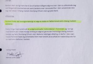 Jyske bank forslår selv dialog, men kun hvis du ikke opdager at jyske bank bedrager dig 17-11-2015 mug@jyskebank
