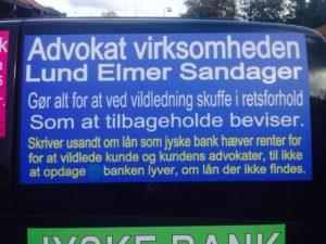 Jyske bank benytter Advokater som gerne lyver