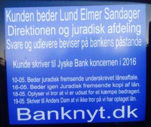 Mange gange er Jyske Bank oplyst om, mulig råddenskab i koncernen