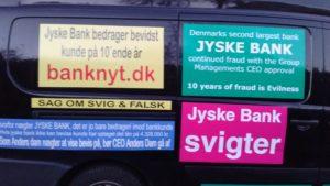 Jysk bank svigter de kunder banken bedrager, og vil ikke tale om, eller stoppe ulovlighederne