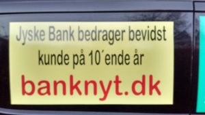 Jysk bank udsætter kunde for fortsat bedrageri på 10'ende år.