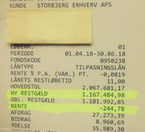 Jyske bank kunne jo ændre deres påstand til - At rentesikring lavet 16-07-2009 af renterisikoen på et bagvedliggende / underliggende lån, skulle være til dette lån her. - Fra tilbud bilag 11. 06-05-2009. Optaget 03-06-2009 - Efter følgende krævet nedbragt af Nykredit, og derfor nedbragt med 299.000 kr. - Derefter af jyske bank krævet nedbragt, som følge af krav om salg af byggegrund der låg til sikkerhed i Nykredit. - Se bilag 42. 44. 73. 121 TIDSLINJEN